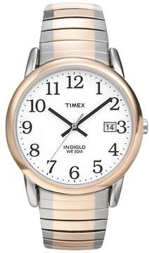 Timex Men's Easy Reader Two Tone Stainless Steel Expansion Watch - T2H311