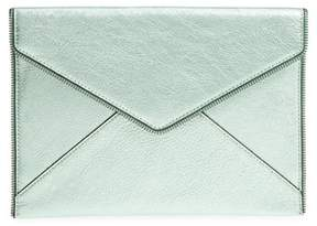 Rebecca Minkoff Leo Metallic Leather Clutch - GREEN - STYLE