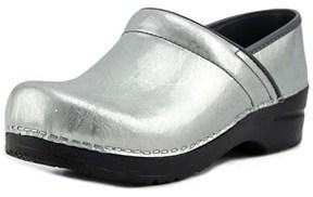 Sanita Signature Pearl Metallic Women Round Toe Patent Leather Gray Clogs.
