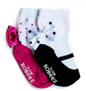 Robeez Girls Take A Bow Infant & Toddler Socks - 2 Pack