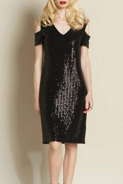 Clara Sunwoo Shimmer Open Shoulder Dress