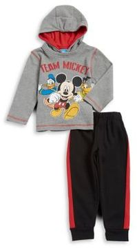 Nannette Little Boy's Two-Piece Mickey Graphic Hoodie and Elasticized Jogger Pants Set