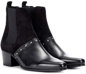 Balmain Artemisia leather and suede boots