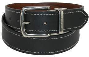 Tommy Hilfiger Men's Reversible Belt with Contrast Stitch, 38, Black to Brown