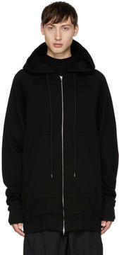 Julius Black Printed Zip-Up Hoodie