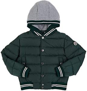 Moncler Kids' Down-Quilted Varsity Jacket