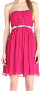 Calvin Klein Women's Strapless Embellished Dress Fuchsia, 10