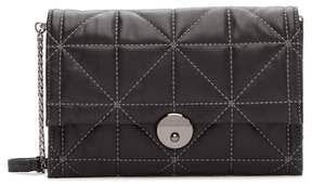 Milly WYTHE Quilted Leather Crossbody Clutch Bag