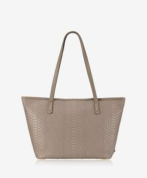 GiGi New York Zip Taylor Tote In Stone Embossed Python