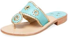 Jack Rogers Women's Nantucket Leather Thong Sandal
