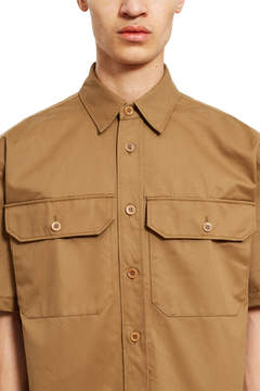 Gosha Rubchinskiy Washed Cotton Short-Sleeve Shirt