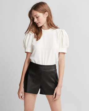 Express High Waisted (Minus The) Leather Shorts