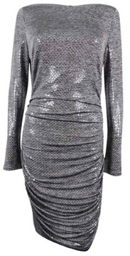 Vince Camuto Women's Sequin Body-Con Dress (Grey, 10)