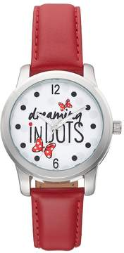 Disney Disney's Minnie Mouse Dreaming in Dots Women's Leather Watch