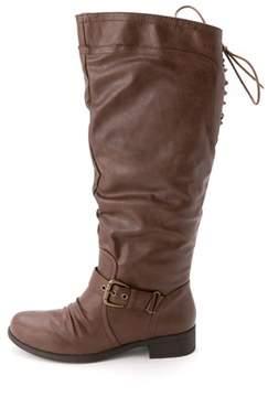 XOXO Women's Marcher Wide Calf Knee High Boots.