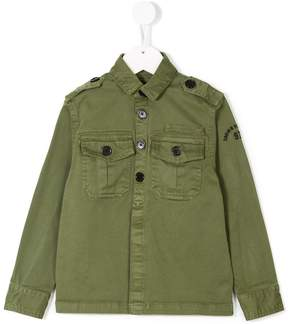 Zadig & Voltaire Kids camouflage-print army shirt