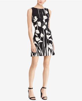 American Living Floral Print Jacquard Dress