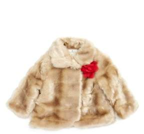 Kate Spade Infant Girl's Faux Mink Fur Coat