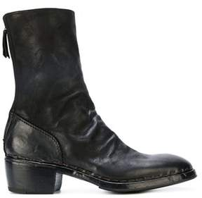 Premiata Men's Black Leather Ankle Boots.