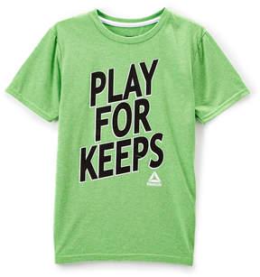 Reebok Bright Green 'Play for Keeps' Crewneck Tee - Boys