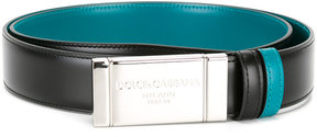 Dolce & Gabbana metallic buckle belt