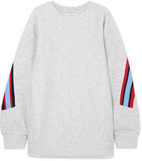 Facetasm Embroidered Ribbed-trimmed Jersey Sweatshirt - Light gray