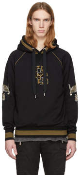 Dolce & Gabbana Black Leopard Logo Hoodie