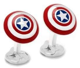 Cufflinks Inc. Cufflinks, Inc. Marvel Comics 3D Captain America Shield Cuff Links