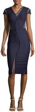 Victoria Beckham Women's Mesh-Accented Bodycon Dress