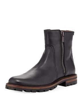 Aquatalia Jared Waxy Dual-Zip Boot, Black
