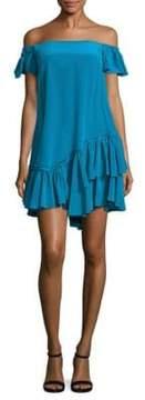 Cinq à Sept Minella Ruffled Off-The-Shoulder Dress