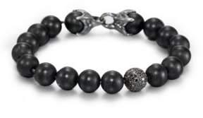 David Yurman Black Onyx Beaded Pave Bracelet