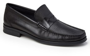 Sandro Moscoloni Men's Siena Pebble Embossed Penny Loafer