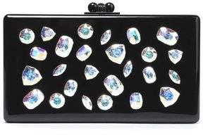 Edie Parker Crystal-Embellished Acrylic Box Clutch