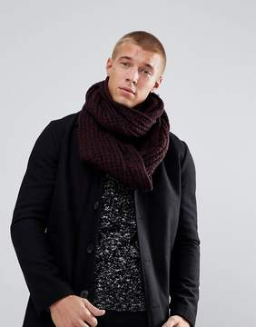New Look Infinity scarf In Burgundy