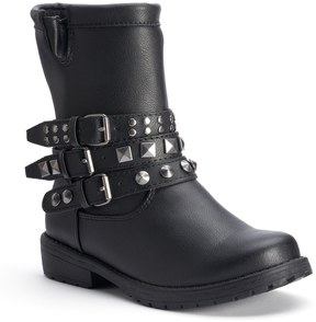 Mudd Girls' Studded Moto Ankle Boots