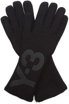 Y-3 Logo knit gloves
