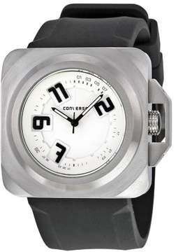 Converse Overtime White Dial Black Silicone Strap Quartz Men's Watch VR-018-090