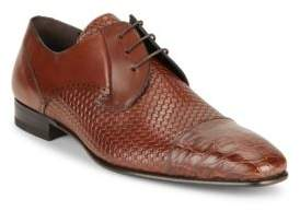 Mezlan Woven Leather Wingtips