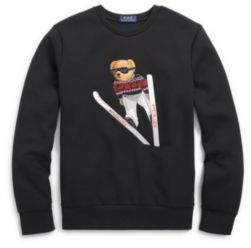 Polo Ralph Lauren Bear Crewneck Sweatshirt Polo Black L