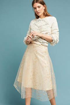 Eva Franco Metallic Star Tulle Skirt