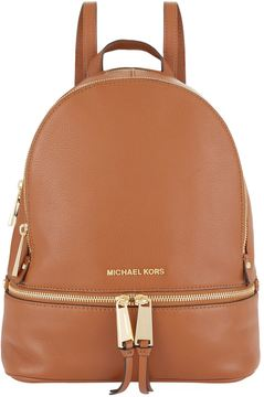 Michael Kors Rhea Zip Backpack - BROWN - STYLE