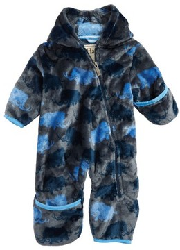 Hatley Infant Boy's Mammoth Print Fuzzy Fleece Bundlers Snowsuit