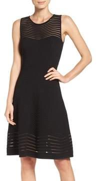 Eliza J Women's Chevron Fit & Flare Dress