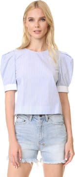 ADAM by Adam Lippes Puff Sleeve Top