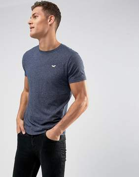 Hollister Crew T-Shirt Slim Fit Icon Logo in Navy