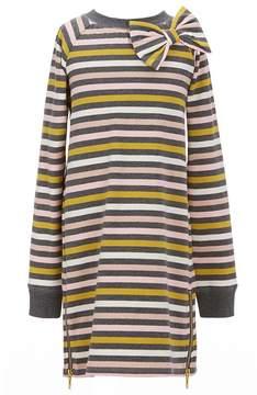 Kate Spade Big Girls 7-14 Metallic Zip Striped Dress