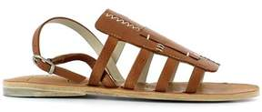 Henry Beguelin Women's Brown Leather Sandals.