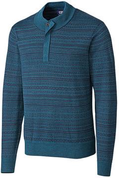 Cutter & Buck Blue Douglas Forest Wool-Blend Pullover - Men