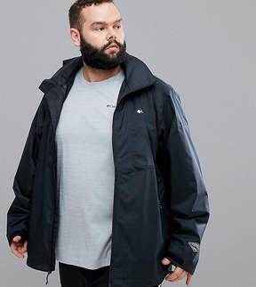 Columbia Plus Size Inner Limits Waterproof Jacket Concealable Hood in Black